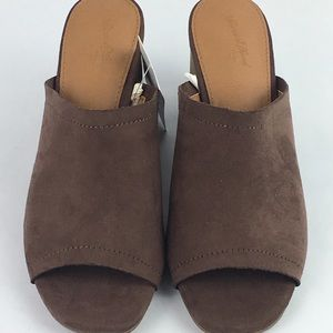 Women's Norelle Microsuede Stacked Heeled Mules